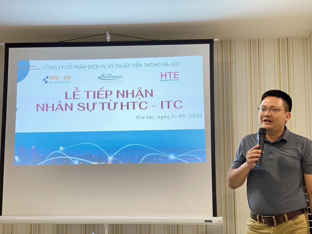 Ông Phạm Hưng - Giám đốc TT Kỹ thuật Miền Trung HTE phát biểu tại buổi lễ.