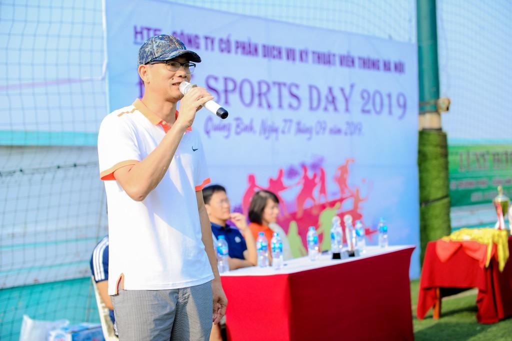 Tổng giám đốc phát biểu khai mạc hội thao sportyday 2019