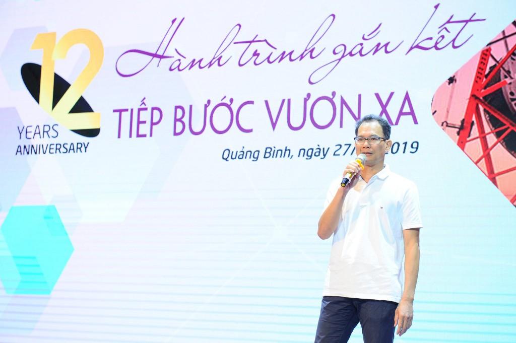 Tổng giám đốc Nguyễn Thế Thịnh phát biểu